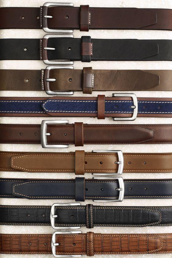Pull it Together: From jeans to a suit, your look isn't complete without a good Johnston & Murphy belt.