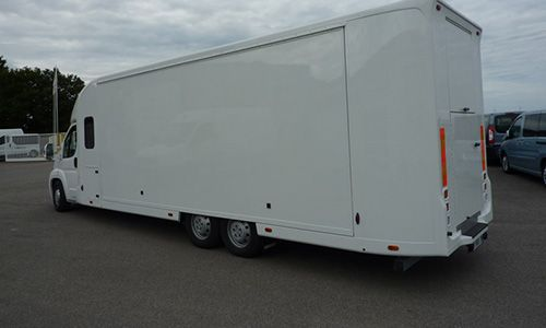 FIAT Ducato (RAM Promaster) fitted with alternative motor chassis (AMC) by Morice, France.