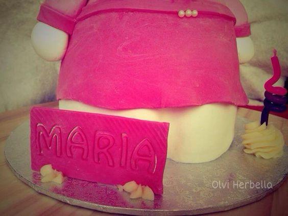 Hello Kitty cake 3D tarta. Para mi niña.