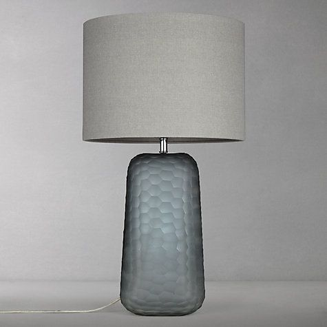 John Lewis Partners Lucian Frosted Glass Table Lamp Grey Glass Table Lamp Table Lamp Lamp