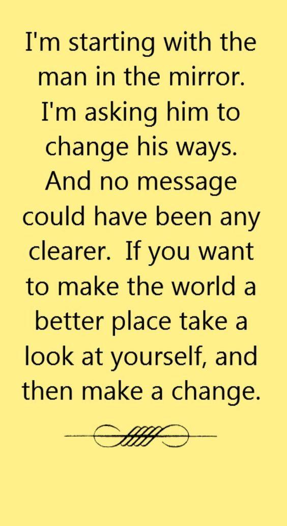 Michael Jackson - Man in the Mirror - song lyrics, song quotes, songs, music lyrics, music quotes