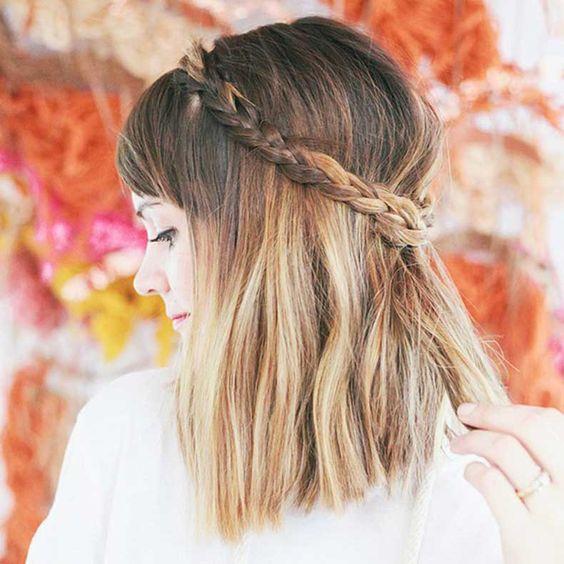 trança em cabelo curto - Cerca con Google