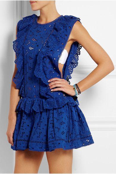 Zimmermann | Hyper broderie anglaise cotton dress | NET-A-PORTER.COM