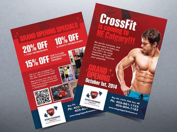 CrossFit Gym Flyer Design Boxing Flyer Pinterest Crossfit - gym brochure