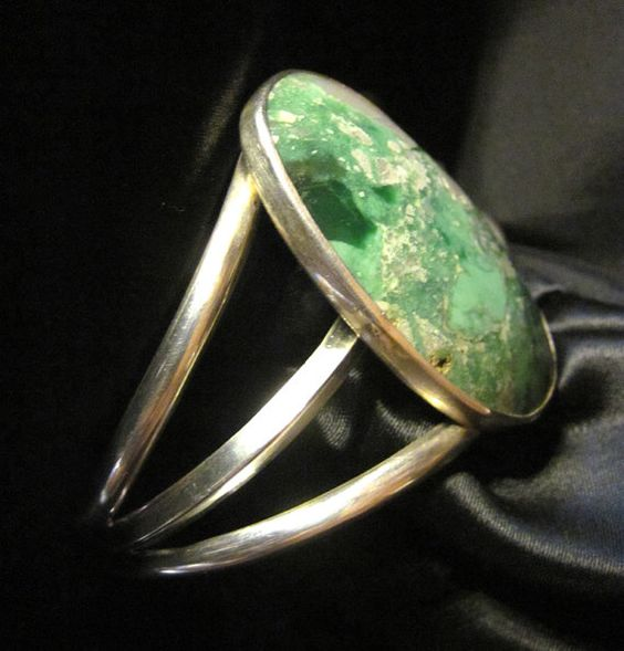 Green Lucin Utah Variscite & Sterling Silver 925 by BigFootDesigns,