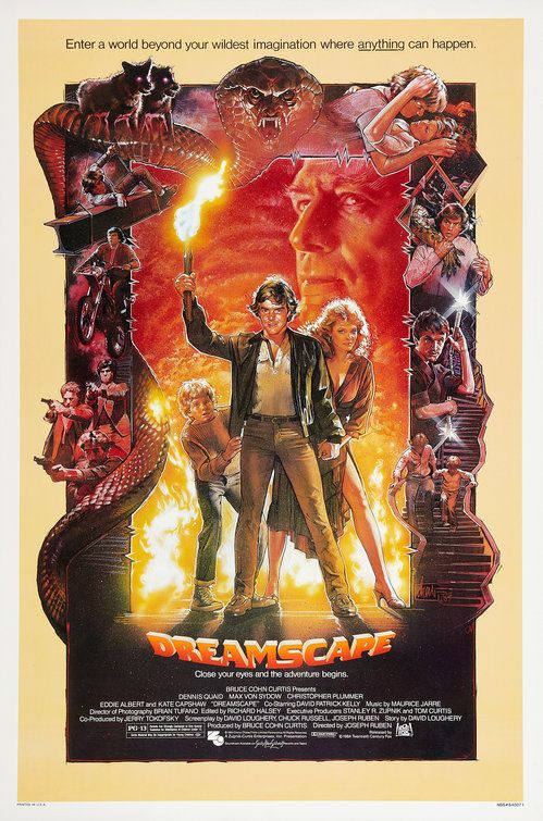Click To View Extra Large Poster Image For Dreamscape Original Movie Posters Movie Posters Vintage Movie Poster Art