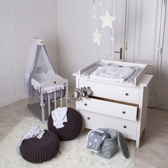 Wickelaufsätze - Wickelaufsatz für IKEA Hemnes Kommode NEU! Weiß! - ein Designerstück von PuckDaddy bei DaWanda