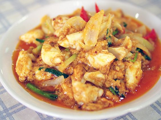 krua apsorn crabmeat in curry