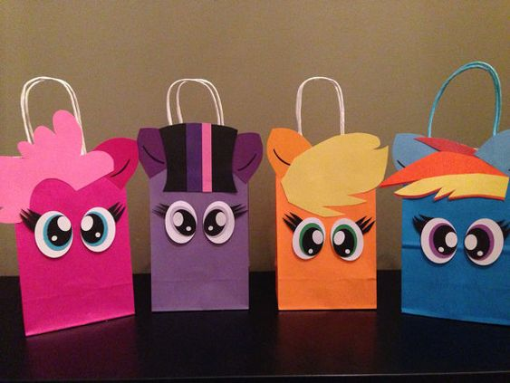 One Dozen 12 My little pony inspired favorBags by CustomizeMee, $33.00. use for eyes: