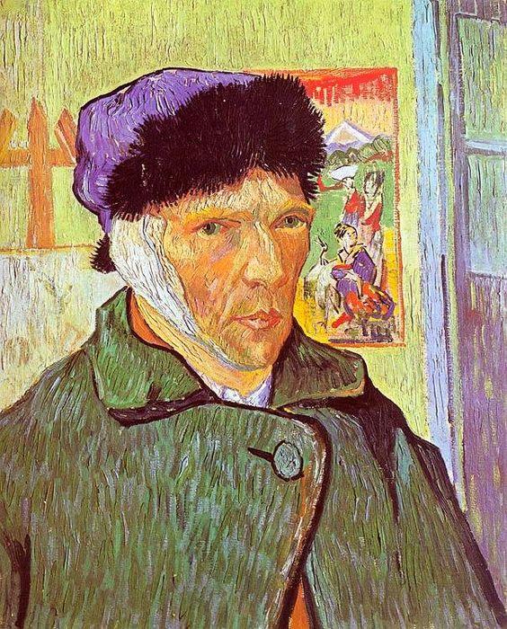Vincent van Gogh, Autoritratto con orecchio bendato, 1889