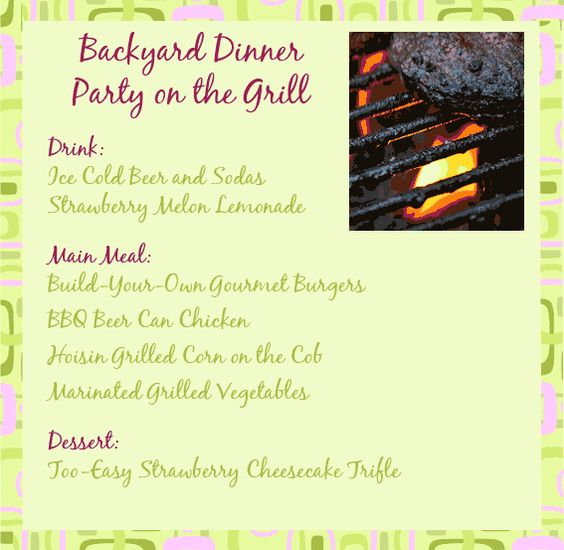 Backyard Party Menu Ideas menu and ideas to spark up your summer backyard party eatwell101 Dinner Party Menu Grill Recipes Recipes For A Bbq Or Backyard Party Fabulous Menu