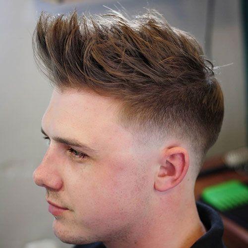 Messy Spikes Long Fringe Mens Haircuts Short Mens Haircuts Fade Fade Haircut
