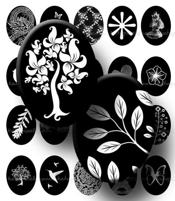 Black and White Designs - download & print