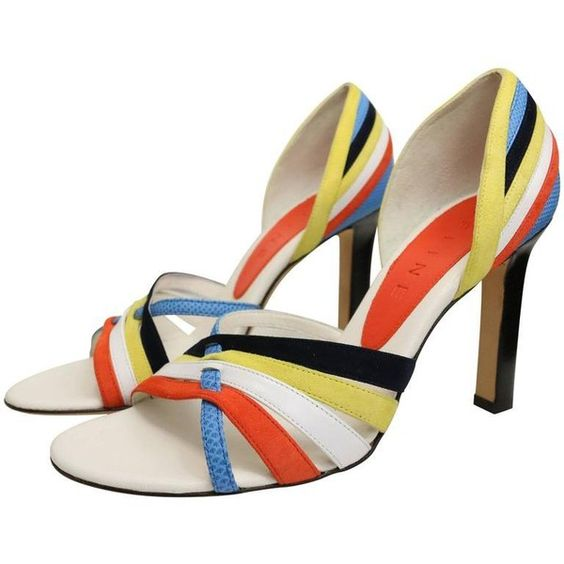 Preowned Celine Colour Blocked Straps Sandals Heels ($850) ❤ liked on Polyvore featuring shoes, sandals, beige, block-heel sandals, wood heel sandals, celine shoes, wood high heel sandals and beige sandals