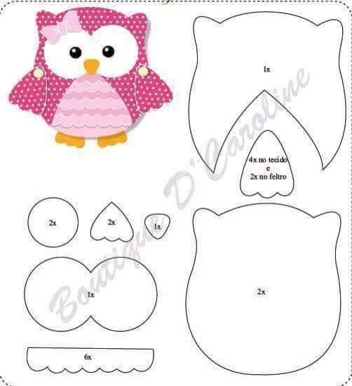 Corujinha Eleonora Pinterest Owl Molde E Apliques