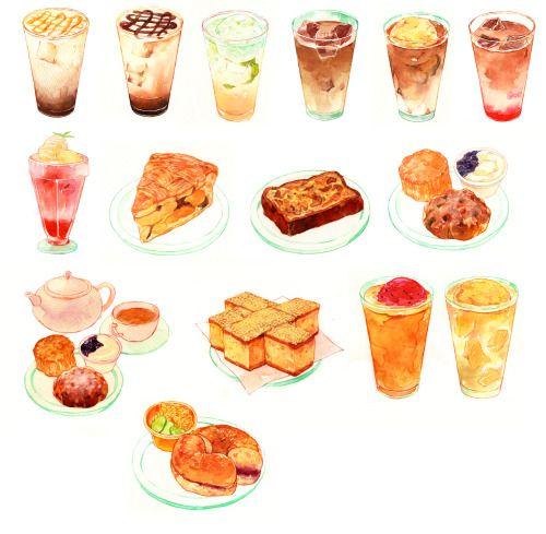 """nashie-sakuhin: """" 滋賀のカフェ屋さんのメニューに使用していただくもの。 """""""
