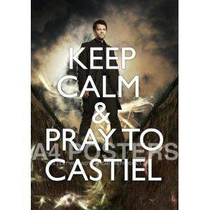 Supernatural Castiel Misha Collins Keep Calm A4 Poster Photo: Amazon.co.uk: