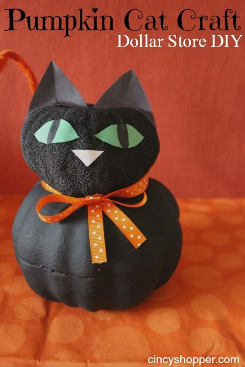 Cat crafts, Dollar stores and Dollar store halloween on ...