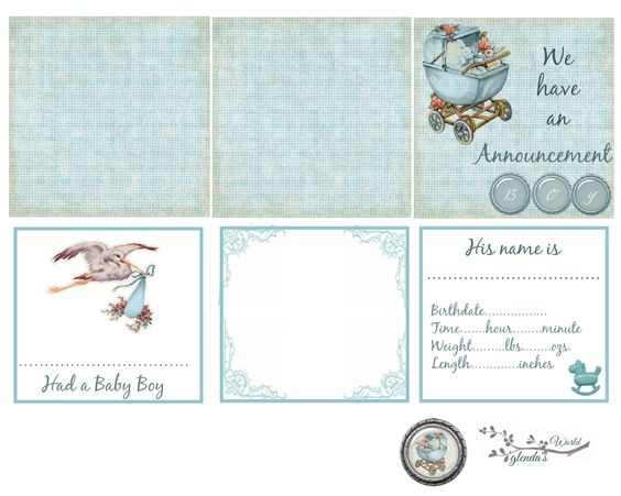Freeprintable Baby Announcement for a little Boy – Free Online Baby Announcements
