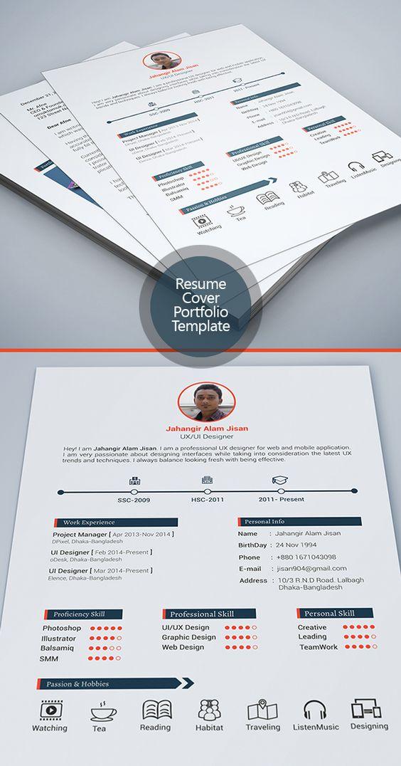 free modern resume templates  u0026 psd mockups