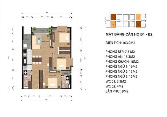 Mặt bằng chung cư One Eighteen 18 - Dự án 298 Ngọc Lâm, Long Biên - Web chính thức phòng dự án