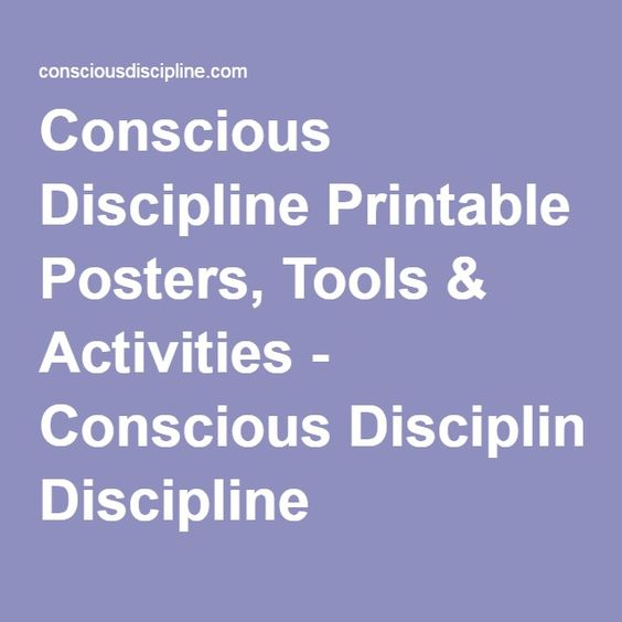 It's just a picture of Fabulous Conscious Discipline Posters