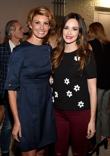 Faith Hill and Kacey Musgraves attend the Draper James Nashville store opening on October 28 2015 in Nashville Tennessee