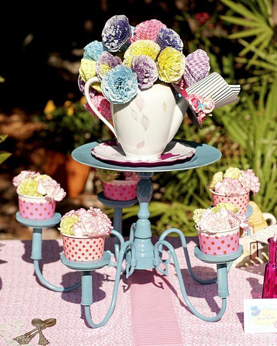 Alice in Wonderland Birthday Tea Party Ideas and DIY centerpiece