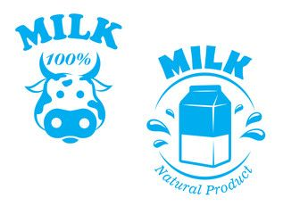 Milk emblem or symbol