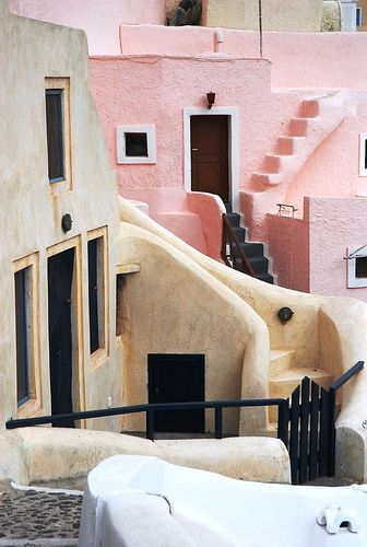 Oia, Santorini, Greece >> Almost looks fake, so whimsical and pretty! #JetsetterCurator