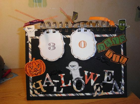 Stampin up Halloween Desk Count Down