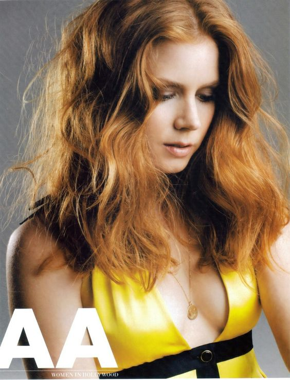 Celebrity Plunge Amy Adams Cleavage In A Yellow Dress