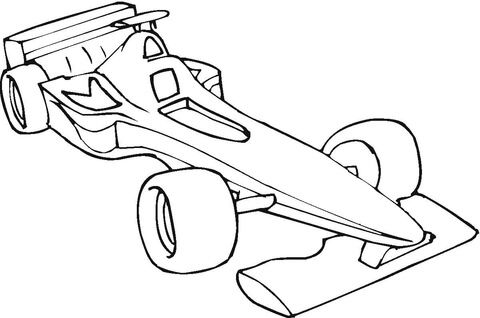 Macchina Da Formula 1 Disegno Da Colorare Disegni Da Colorare Disegni Libri Da Colorare