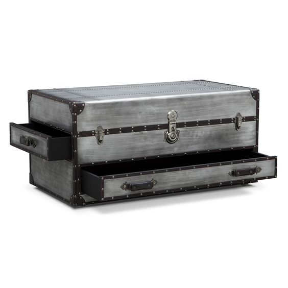 Travel Much Britannia Trunk Cocktail Table Value City