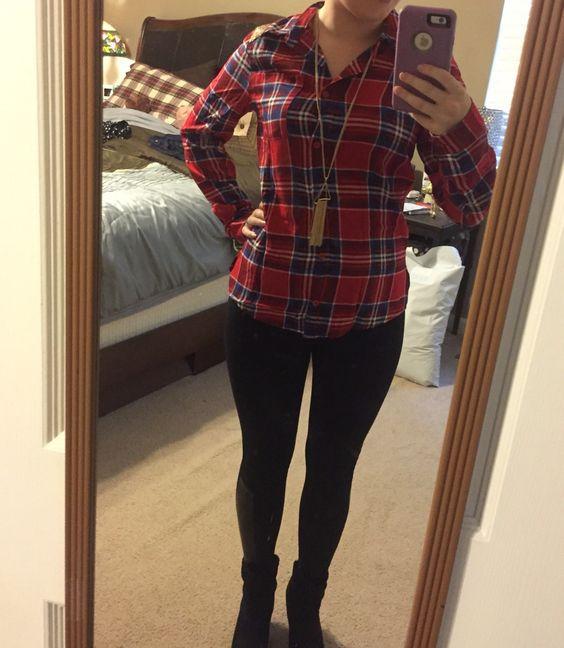 6th Stitch Fix box. If By Sea Salerno Sequin Detail top. October 2015. Love plaid! Love the color and the pretty sequin detail!  https://www.stitchfix.com/referral/5306545