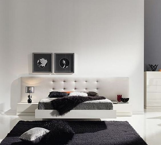 tete de lit contemporaine pour lit double lits pinterest. Black Bedroom Furniture Sets. Home Design Ideas