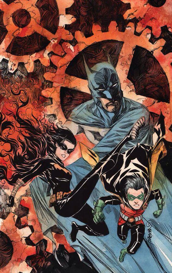 Batman, damian Wayne, and Cassandra Cain