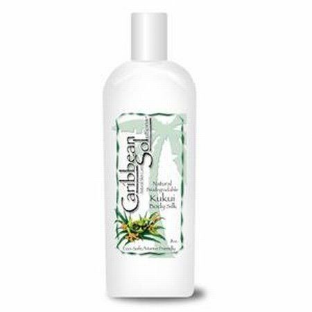 Caribbean Solutions Natural Kukui Body Silk Moisturizers 8 Oz by Caribbean Solutions. $13.99. Serving Size:. 8 Ounces Lotion. Our Natural Kukui Body Silk consists of ORGANIC ALOE VERA, kukui pod oil, rosehips oil, and Italian squalene, along with other rich tropical ingredients shown to replenish your skin with the moisture it needs to remain youthful and healthy. Drying elements, such as the sun and wind, chlorine and salt, dry heat from furnaces, and dry air from air c...
