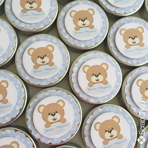 Latinhas Mint to Be para o 1º aninho do João Miguel. #scrapchique #festaurso #urso #bearparty #minttobe #personalizadosdeluxo