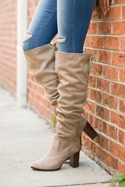 Follow My Lead Over-the-Knee Boots - Taupe--Save 10% + free shipping using REPCHRISTY at checkout