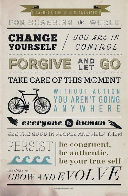 Cambiar el mundo según Gandhi