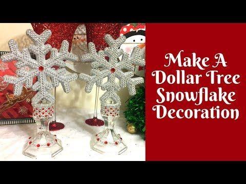 Christmas Crafts Dollar Tree Snowflake Decoration Youtube Diy Christmas Decorations Dollar Store Holiday Crafts Christmas Dollar Store Christmas