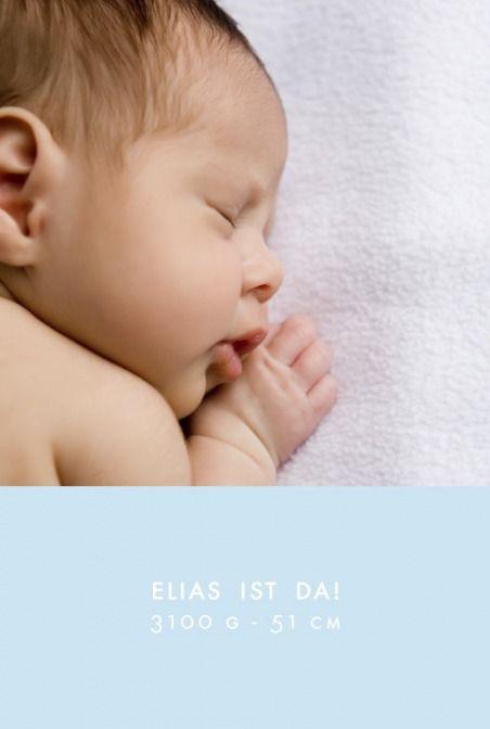 Geburtskarte Modern 5 Fotos by Sibylle Derkenne für Geburtskarten.com #Babykarte #Foto #Geburt