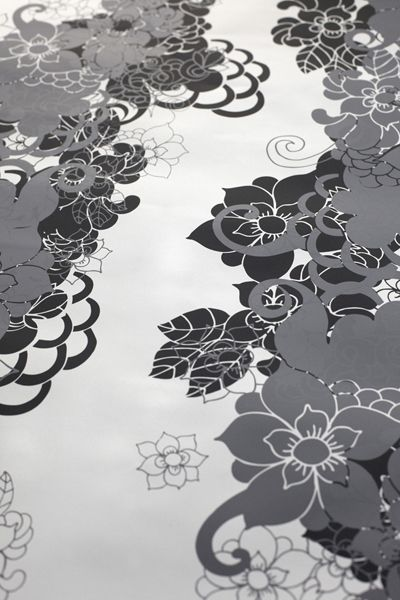 graphic floral #crisp #clean #black #white #grey