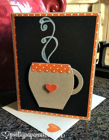 Stampin' Up! Curvy Keepsake Box made into a darling mug! Prettypapercards.com