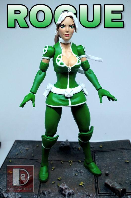 Rogue X Men Legacy Marvel Legends Custom Action Figure Custom Action Figures Marvel Legends X Men