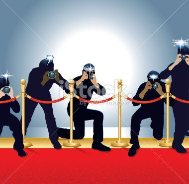 Red carpet clip art photographers on red carpet for Paparazzi clipart