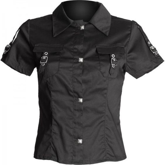 Gothic Clothing Black Blouse 10