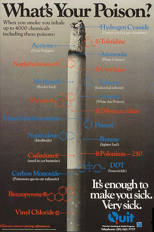 Chemicals, carcinogens and cancer...oh my! | Seeds 4Thoughts There are over 4000 harmful chemicals in one cigarette!