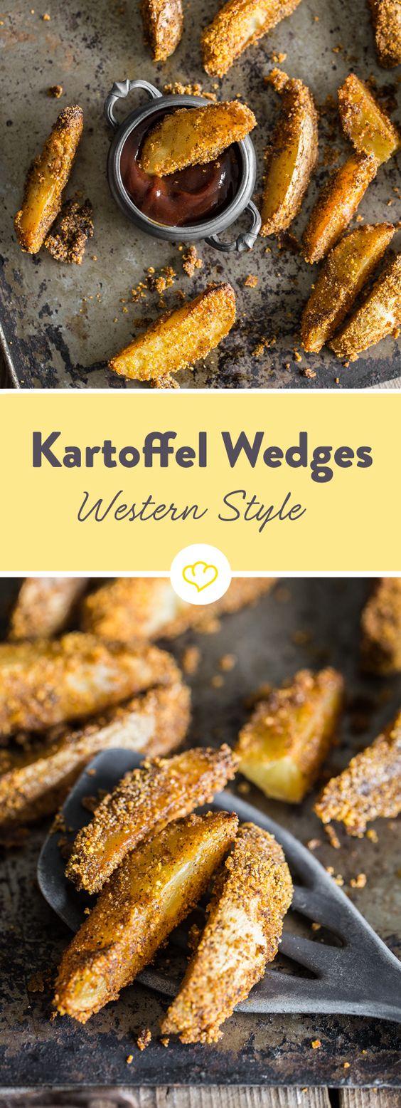 Diese knusprigen Kartoffelecken kommen mit Paprika-, Chili- und BBQ-Aromen umhüllt - nicht aus der Fritteuse, sondern frisch aus deinem Backofen vom Blech.